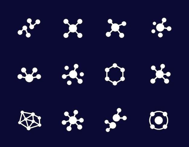 Connessioni o icone di connessione, set vettoriale