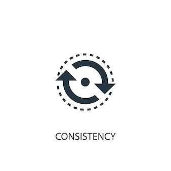 Icona di coerenza. illustrazione semplice dell'elemento. disegno di simbolo del concetto di coerenza. può essere utilizzato per web e mobile.