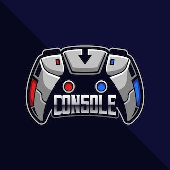 Console di gioco con logo esport