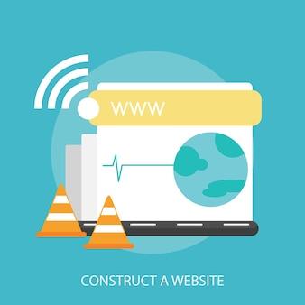 Costruisci un design concettuale per il sito web