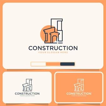 Costruzione, edifici, ispirazione per il design del logo