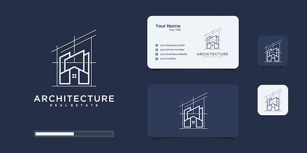 Biglietto da visita di costruzione e design del logo