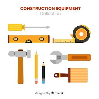 Collezione di attrezzature per l'edilizia