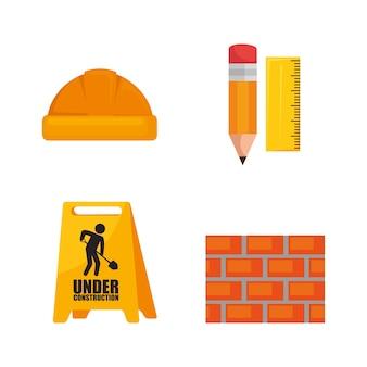 Set di icone in costruzione