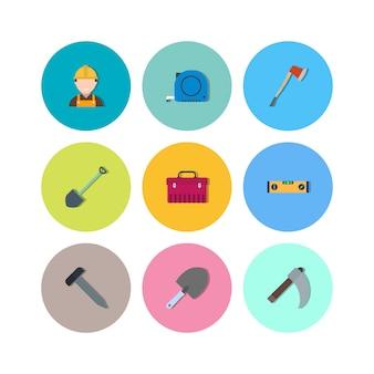 Icone della costruzione per uso personale e commerciale