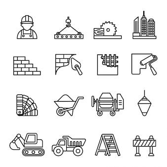 Set di icone di costruzione.