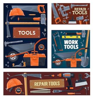 Industria edile, strumenti e attrezzature per la riparazione della casa.