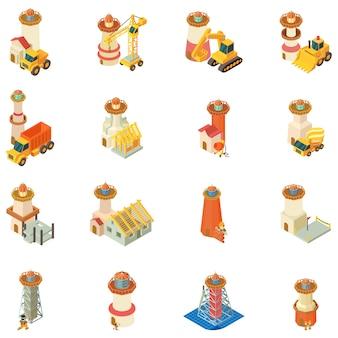 Costruzione di set di icone del faro