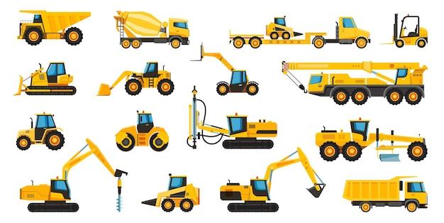 Macchine edili attrezzature macchinari pesanti gru escavatore bulldozer trattore camion carrello elevatore