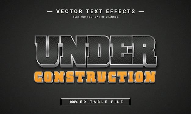 Effetto testo in costruzione