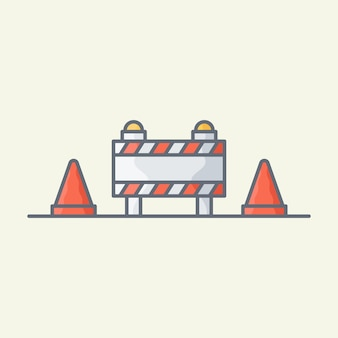 Illustrazione vettoriale in costruzione