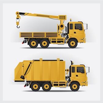 Set di veicoli da costruzione