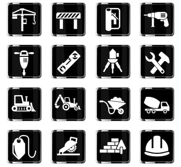 Icone web di costruzione per la progettazione dell'interfaccia utente