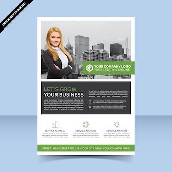 Volantini per consulenti aiutano a far crescere la tua attività design semplice e moderno