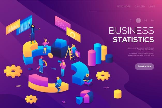 Consulenza per prestazioni aziendali, concetto di analisi. statistiche e statisti d'impresa