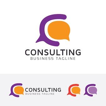 Consulenza modello di logo vettoriale lettera c