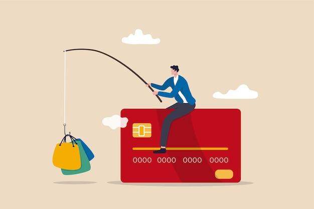 Il consumismo e il marketing attirano le persone a fare acquisti con il rischio di debito della carta di credito.