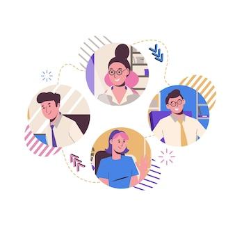 Elenco contatti di amici e colleghi. chat online. per lavorare da remoto.