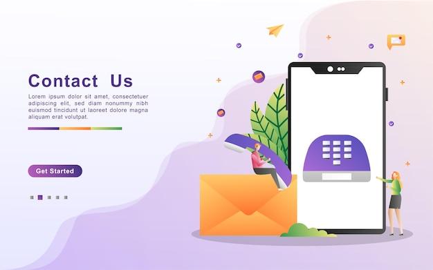 Contattaci concept. servizio di assistenza clienti