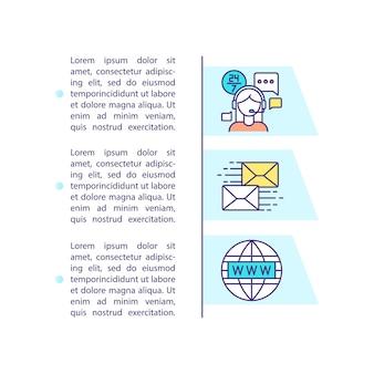 Contattaci icona di concetto con il testo