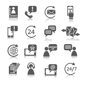 Contattaci icone di servizio