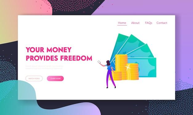 Pagamento senza contatto, modello di pagina di destinazione a pagamento senza contatto senza contanti