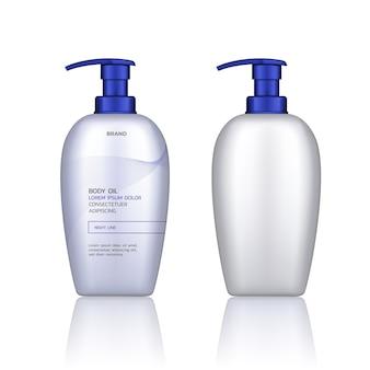 Contenitore per prodotti cosmetici isolato su sfondo bianco e trasparente. design del packaging per la cura della pelle.