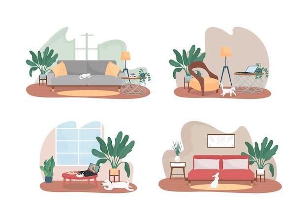 Web 2d di spazio domestico contemporaneo