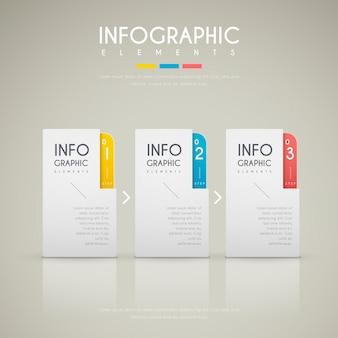 Design infografico contemporaneo con elementi di etichette colorate
