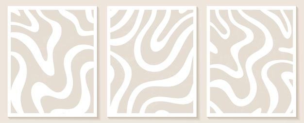Modelli contemporanei con forme astratte e linee in colori nude