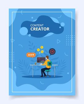 Il creatore di contenuti modifica il caricamento del video