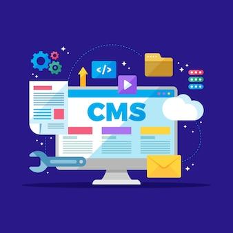 Sistema di gestione dei contenuti illustrato