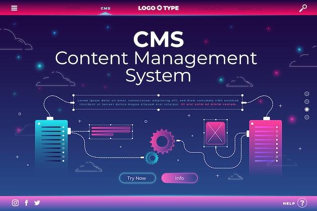 Sito web del sistema di gestione dei contenuti