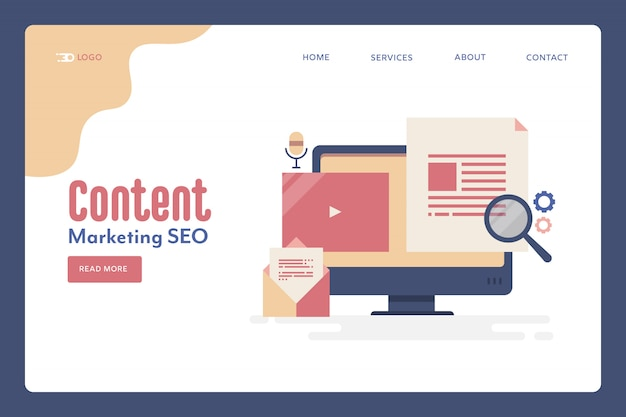 Pagina di destinazione del marketing dei contenuti
