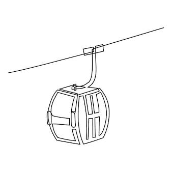 Disegno a tratteggio continuo dell'illustrazione vettoriale del martello dei giudici