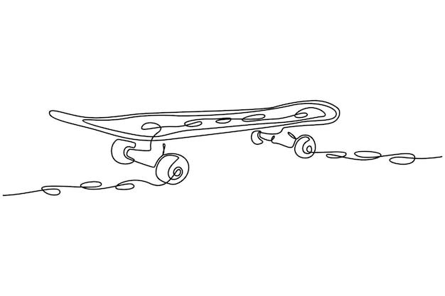 Disegno a tratteggio continuo illustrazione vettoriale del tabellone per schizzi