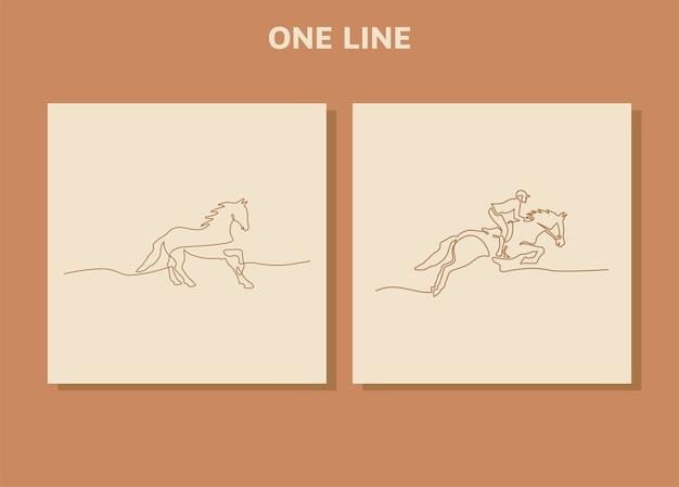 Concetto di disegno continuo a una linea