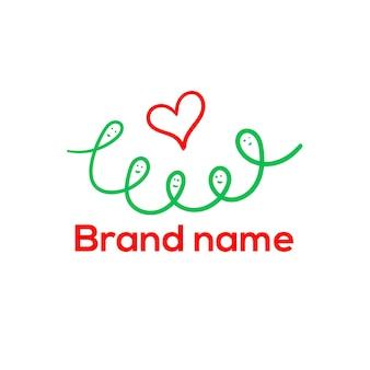 Contorno luminoso logo famiglia logo emblema icona blog