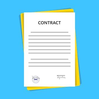 Documento legale di memorandum d'intesa del contratto