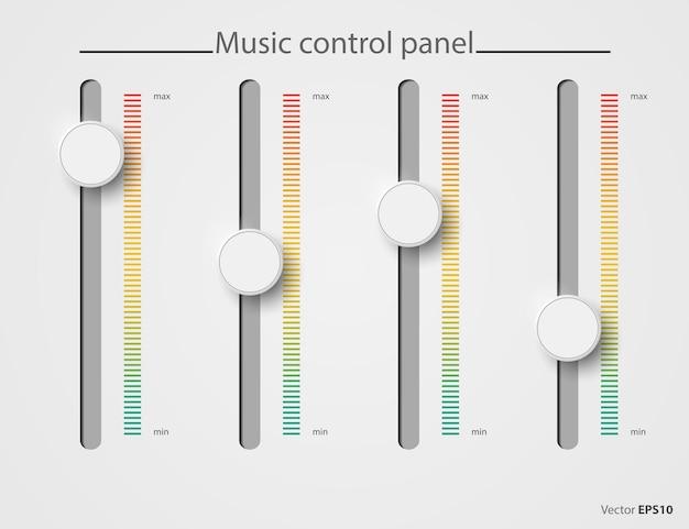 Bicchiere pannello di controllo musica audio volume audio pulsante manopola livello minimo massimo