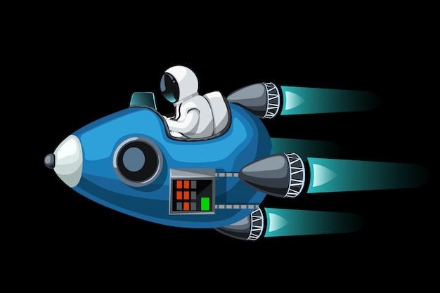 Astronave convertibile su fondo nero