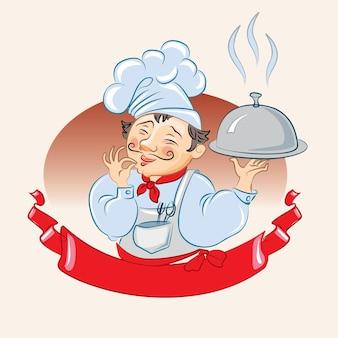 Cucinare. isolato su sfondo bianco, illustrazione vettoriale