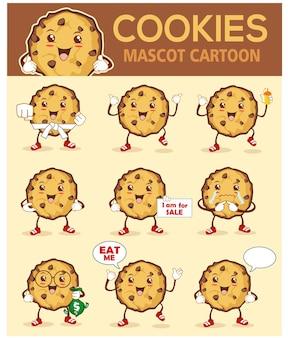 Fumetto della mascotte dei biscotti