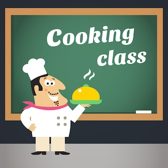 Manifesto pubblicitario di cucina
