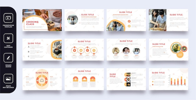 Modello di presentazione di diapositive del corso di cucina