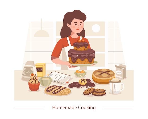 Cucinare composizione fatta in casa