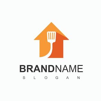 Cucinare casa, ristorante logo design template