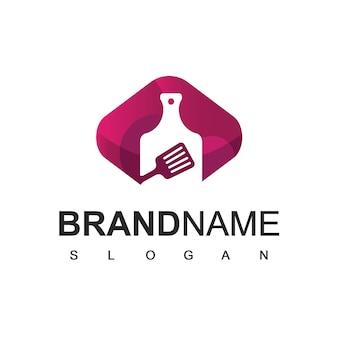 Cucina logo design vector ristorante e simbolo