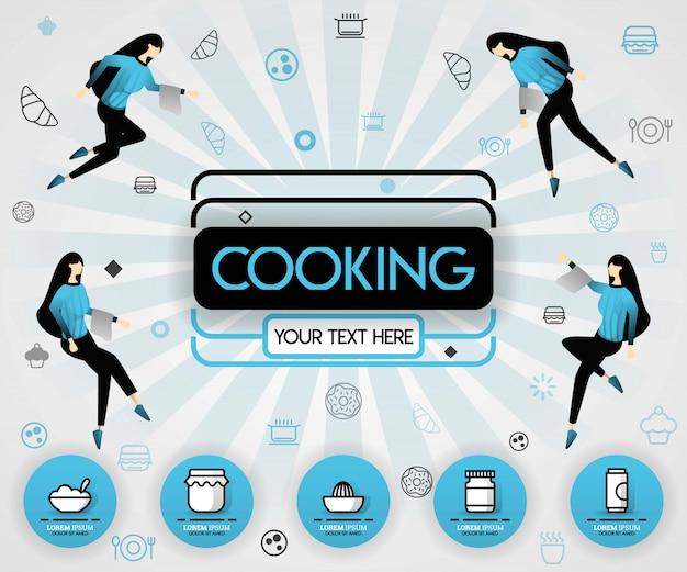 Consigli di cucina e ricette nella rivista di copertina blu