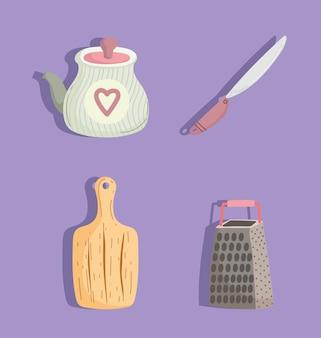 Icone di untensils da cucina